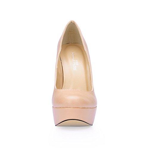 et nouveau Skin Taiwan à ronde printemps Shoe chair à imperméables talon color chaussures haut lady's le femmes le tête Chaussures tempérament HYFfngF