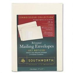 Southworth Connoisseur Collection Envelope, Contemporary, #90, Ivory, 10 per Pack (RF4) ()