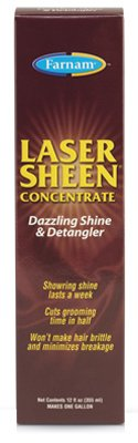 Central Garden & Pet 45912 Laser Sheen Mane & Tail Detangler, High-Shine, 12-oz. Concentrate - Quantity 12 by Farnam (Image #1)