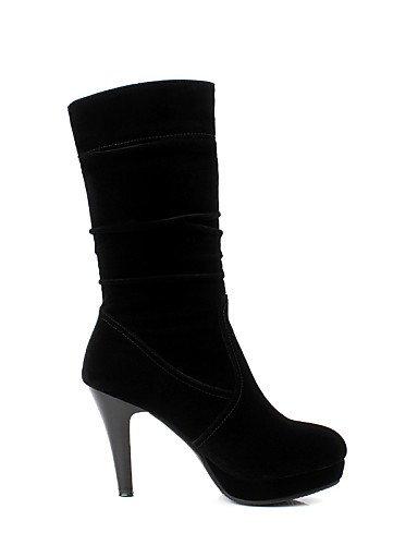 us8 5 La Noche Mujer Zapatos Black us5 Fiesta Stiletto Eu36 Vellón Botas Uk6 Vestido Black De Xzz Cn35 Negro Tacón Y A Cn39 Moda Uk3 5 Eu39 a4qw77x0