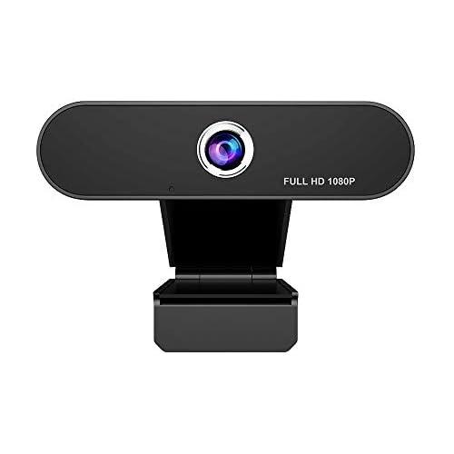 chollos oferta descuentos barato iAmotus Webcam 1080P Webcam PC con Micrófono de Reducción de Ruido para videollamadas cámara de computadora portátil para videollamadas Flexible y Ajustable Compatible con Windows Android Linux