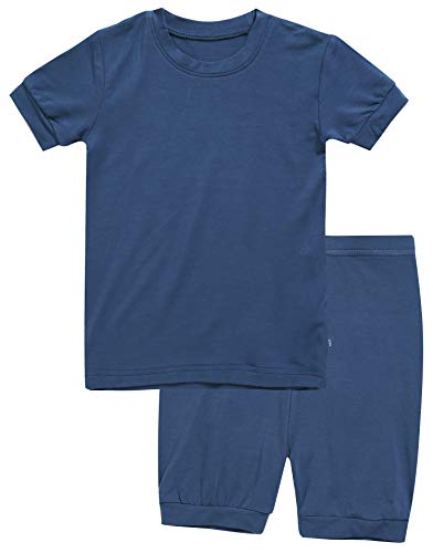 - Boys Short Sleeve Sleepwear Pajamas 2pcs Set Short Colorful Navy XL