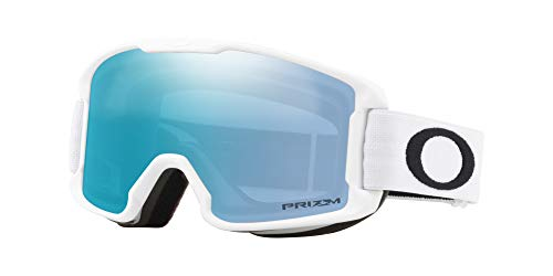 Oakley Line Miner Youth Asian Fit Snow Goggle, Matte White, Small, Prizm Sapphire Iridium ()