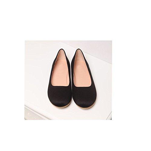 Casual OCHENTA Plano Mujer Simple Moda Negro Bailarinas n11O5qrxX