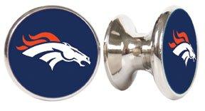 Denver Broncos NFL Stainless Steel Cabinet Knob / Drawer Pull (Nfl Drawer Knobs compare prices)