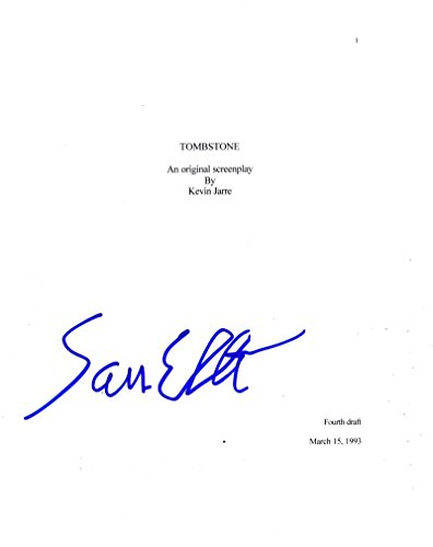 SAM ELLIOTT SIGNED TOMBSTONE AUTHENTIC AUTOGRAPH FULL MOVIE SCRIPT COA