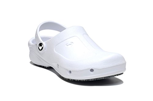 Clogs SB Suecos Thor Weiß - Schuhe EN ISO 20345 mit Zehenschutz SB - Arbeitsschuhe SB mit Offenem Fersenebreich...