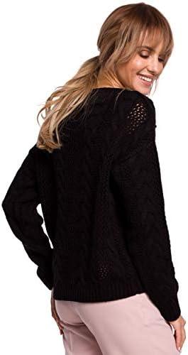 Made of Emotion V-Neck Pullover Sweater - Black