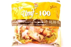 Amazon com : unif-100 instant noodle (artificial stewed pork chop