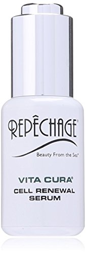 Repechage Vita Cura Renewal Serum Natural Anti-Aging Face Moisturizer with Hyaluronic Acid, Marine Seaweed, Antioxidant EGCG, & Vitamin K to Brighten, Smooth and Even Tone for Men and Women 1 fl Oz