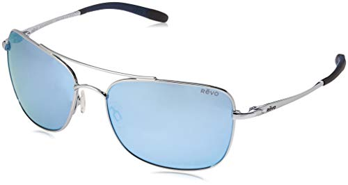 Revo Territory Sunglasses, Polished Chrome Frame, Blue Water 60mm Lenses, part of the Serilium Collection