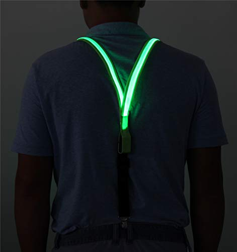 LED Illuminating Glowing Suspender Super Bright And High Visibility Safety Gear