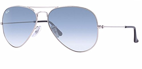 Ray Ban RB3025 003/3F 55M Silver/ Light Blue Gradient - Aviator Gradient Ban Ray