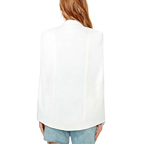 Toping Fine Seasonal Women's Long Sleeve Casual Cape Suit Workwear Blazers WhiteXX-Large by Toping Fine wool-outerwear-coats
