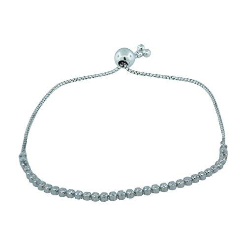 Pandora 590524Cz 1 Sterling Silver Sparkling Strand Bracelet 9 1 Inch  Adjustable