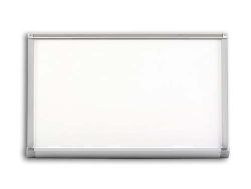 Marsh Pro-Lite 48''x120'' Light Gray Porcelain Markerboard, Standard with Hanger Bar Aluminum Trim by Marsh