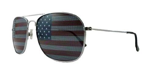 American Flag Aviator Sunglasses USA - Straighten Glasses