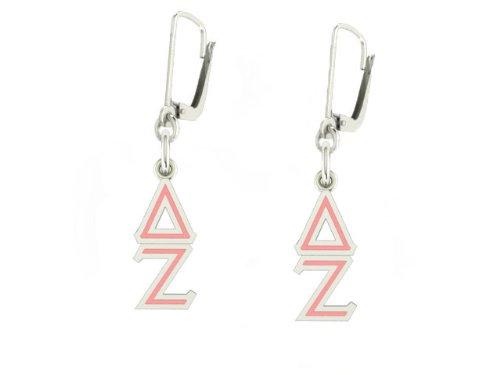 Delta Zeta Epsilon Lavaliere Leverback Earrings