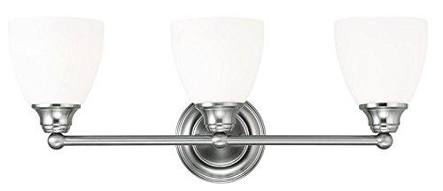 Livex Lighting 13663-91 Somerville 3-Light Bath Light, Brushed Nickel