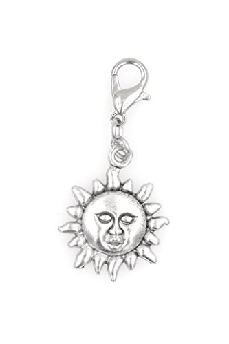! Sun with Face Clip on Charm Perfect for Necklaces and Bracelets 100H ()