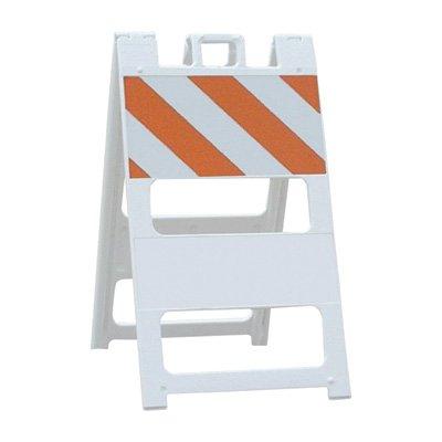 Plasticade Type I Engineer Grade Plastic Barricade - White, Model# 100-T12EG Reflective Barricade Tape