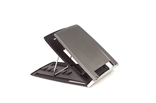 Bakker Elkhuizen Ergo-Q 330 Portable Lightweight Notebook Stand with Document Holder and 6 Height Settings
