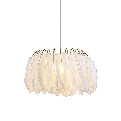 Lampara techo plumas, Blanco lámpara de techo de plumas ...