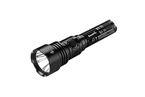 Tactical Flashlight:1060 Lumens with An Effective Range of 376 Meters,USB