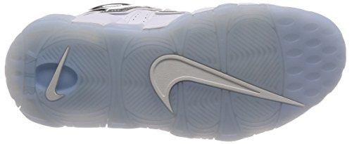 Nike Dameslucht Meer Uptempo Basketbalschoen Wit / Chroomblauwe Tint