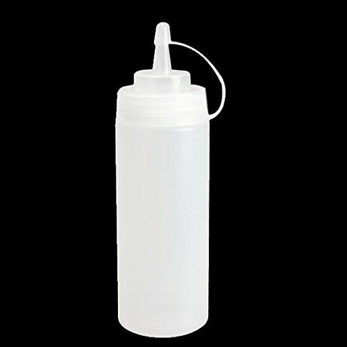 UEB Flacone Dosatore da Cucina di Plastica Flacone Dispenser 8 oz per Salsa Aceto Olio Ketchup