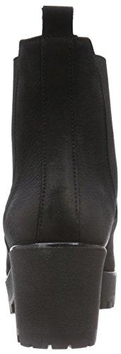 Diavolezza SABINE - botas de caño bajo de cuero mujer negro - negro