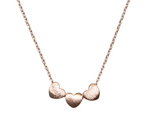 SPUNKYsoul Handmade 3 Heart Necklace Collection (Rose Gold)
