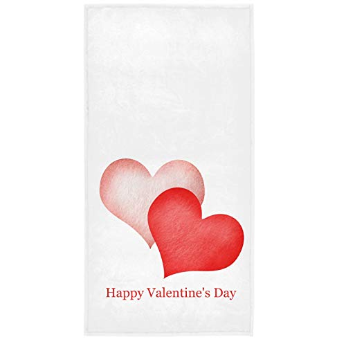 Vdsrup Happy Valentine's Day Hand Towels 30 X 15 In Valentines Abstract Pink Red Hearts Bathroom Towels Soft Highly…