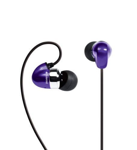 Polaroid ROCKETZ PEP36PUR Stereo In-Ear Headphones (Purple) ()