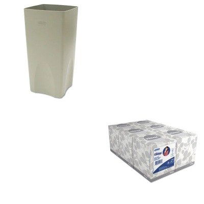 KITKIM21271RCP356300BG - Value Kit - Rubbermaid Plaza Waste Container Rigid Liner (RCP356300BG) and KIMBERLY CLARK KLEENEX White Facial Tissue (KIM21271)