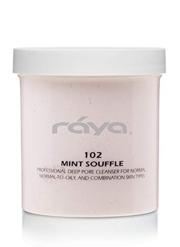 RAYA Mint Soufflé Facial Cleanser 16 oz (102) | pH Balanced Face Wash for Oily and Combination Skin| Helps Clear Clogged Pores and Smooth Complexion