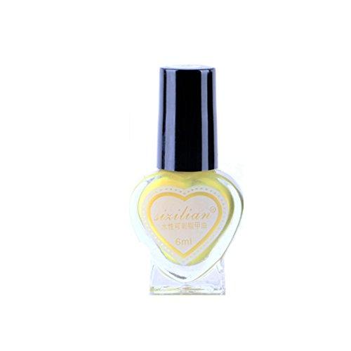 SUKEQ 6ML Gel Nail Polish, Heart Shaped Nail Polish Water-Ba