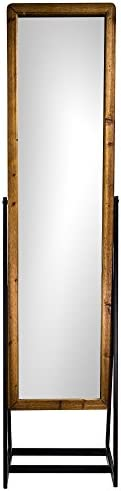 American Art Decor Rustic Full Length Cheval Style Standing 69 H Mirror
