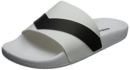 Diesel Mens a-Lohaa SA-Maral Slide Sandal White/Black 0BhUgIn