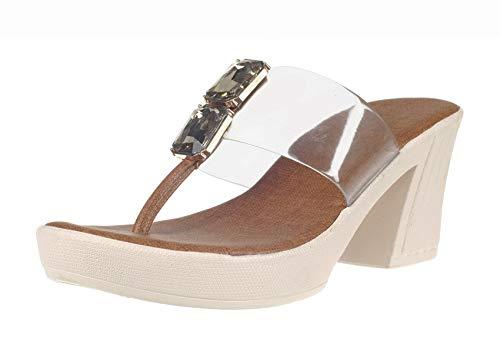 Cleo by Khadim's Women Tan Lifestyle Heel Sandal