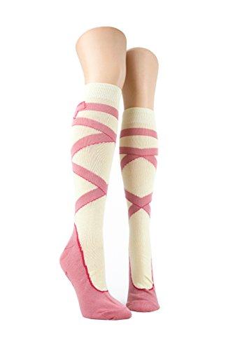 - Foot Traffic - Knee High Socks, Ballet Shoe