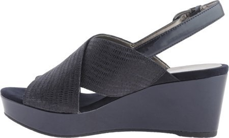 Circa Joan David Sandals (Circa Joan & David Women's Wandy Wedge Sandal, Navy, 6.5 M US)