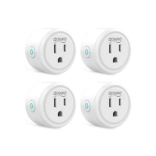 Smart plug, Gosund Mini Wifi Outlet Works with Alexa, Google Home, No Hub Required, Remote Control Your Home Appliances… 1