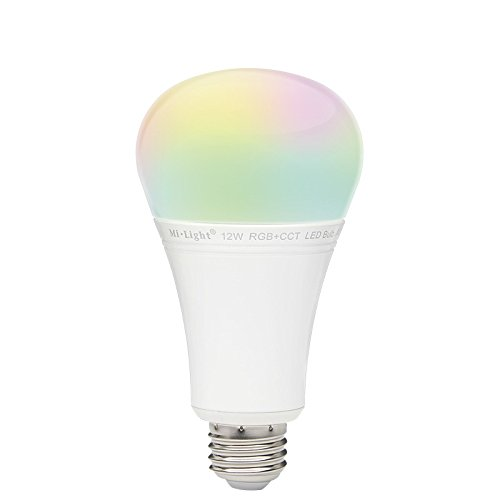 Kingled - Bombilla LED multicolor con conexión WiFi, RVA + CCT (blanco con grados Kelvin variables), 12 W E27, serie Mi-Light, cód.2392: Amazon.es: ...