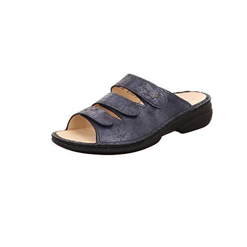 Bleu Mules Femme Finn Comfort Pour f4Pqn7anxw