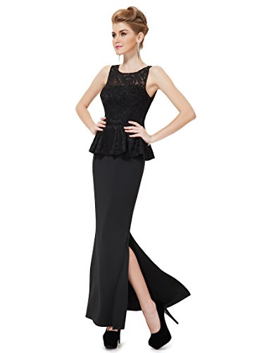 Ever-Pretty HE08196BK14 - Vestido para mujer Negro