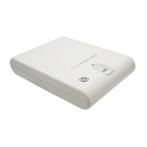 Biometric Fingerprint Safe Box Portable Gun Security Case Pistol Lock Keys Strap (White)