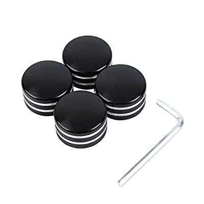 Ambienceo 4Pcs Head Bolt Covers for Harley Sportster XL883 Twin Cam Big Twin 1340 Evo, Black: Industrial & Scientific