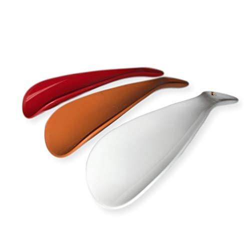 Shoe Horn 3 Piece Set- Color Plastic Reach Extender for Men, Women, and Senior Citizens 5.5