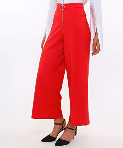 Large Pantalon Rouge Chow Coeur Jambe Femmes Vivetta De rhtsQd
